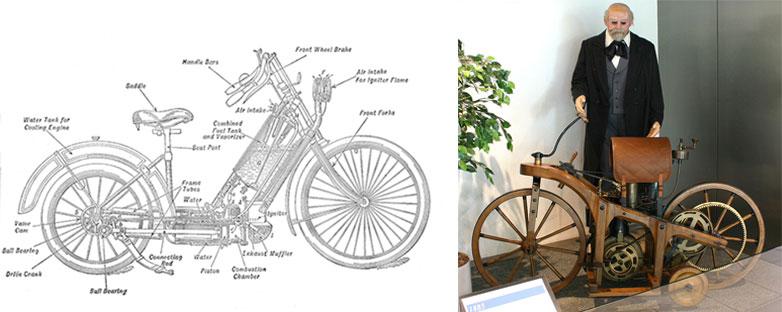 motos 1885 et 1894