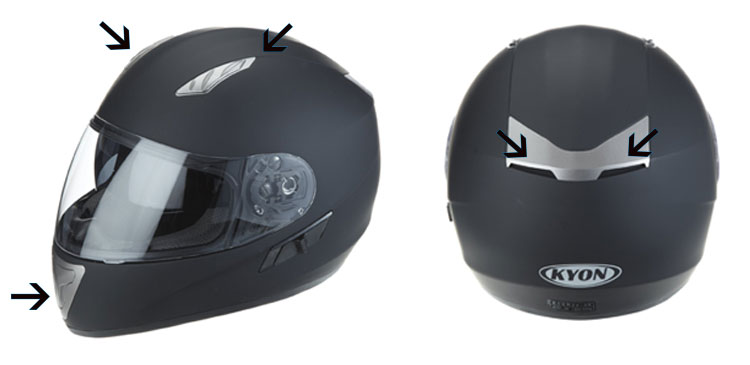 ventilation casque moto integral